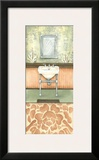 Damask Bath II Print by Laura Nathan