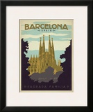 Barcelona, Spain Poster by  Anderson Design Group