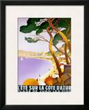 L'Ete sur la Cote d'azur Prints by Roger Broders