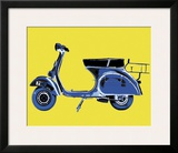 Vespa on Yellow Print by Myrjam Tell