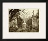 Sepia Garden View I Prints
