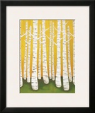 Autumn Birches Prints by Lisa Congdon