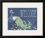 Peacock Welcome Art by Marilu Windvand