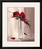 Les Fleurs Rouges II Prints by Olivier Tramoni