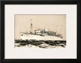 Mess Maritimes - Marechal Joffre Prints by Albert Brenet
