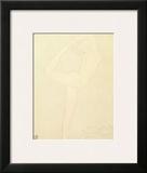 Femme Nue De Profil Posters by Auguste Rodin