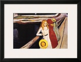 Girl on a Bridge Prints by Edvard Munch