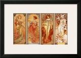Les Saisons, 1900 Art by Alphonse Mucha