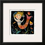 Mermaids Don't Use Combs Framed Giclee Print by Barbara Olsen