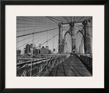 Across Brooklyn Bridge Poster by Trefor Ball