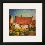 Gardenhouse Chenonceau Framed Giclee Print by Dawne Polis
