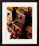 Spices in Drawers Print by Philip Wilkins