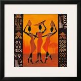 Three Gatherers Poster by Izabella Dahlke