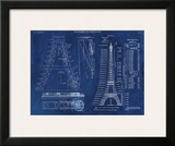 Eiffel Tower Rendering 1 Poster by Carole Stevens