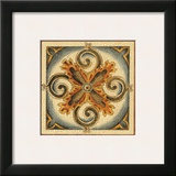 Crackled Cloisonne Tile VI Framed Giclee Print by Chariklia Zarris