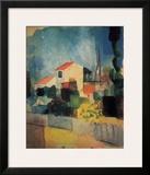 Helles Haus I, c.1914 Posters by Auguste Macke