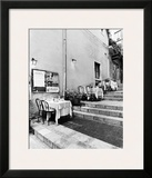 Tables on the Steps, Taormina Print by Monte Nagler