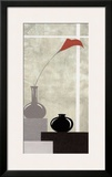 Red and White Setting I Posters by J.l. Vittel