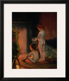 After the Bath, c.1890 Prints by Paul Peel