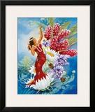 Spirit of Aloha, Hawaiian Hula Dancer Framed Giclee Print by Warren Rapozo