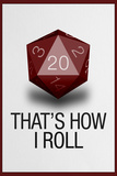 That's How I Roll 20 Sided Die Plastic Sign Wall Sign