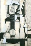 Juan Gris Still Life with Guitar Cubism Plastic Sign Znaki plastikowe autor Juan Gris