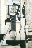 Juan Gris Still Life with Guitar Cubism Plastic Sign Plastic Sign by Juan Gris
