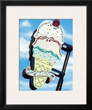 Ice Cream Framed Giclee Print by Anthony Ross