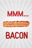 MMM... Bacon Plastic Sign Signes en plastique rigide