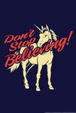 Don't Stop Believing Snorg Tees Plastic Sign Plastic Sign