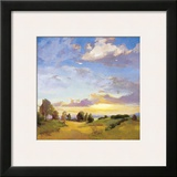 Golden Horizons Framed Giclee Print by Vicki Mcmurry