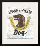 Learn From Your Dog Print by Luke Stockdale