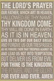 The Lord's Prayer Religious Plastic Sign Wall Sign