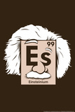 Einsteinium Element Snorg Tees Plastic Sign Placa de plástico
