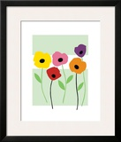 Perky Poppies Framed Giclee Print by Muriel Verger
