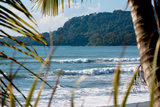 Costa Rica Beach Surfing Waves Plastic Sign Plastskilt