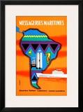 Messageries Maritimes Amerique Du Sud - Small Poster by  Desaleux