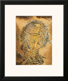 Raphaelesque Head Exploded Framed Giclee Print by Salvador Dalí