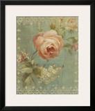 Rose on Sage Print by Danhui Nai