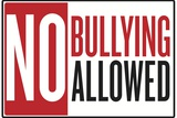 No Bullying Allowed Classroom Plastic Sign Plastic Sign