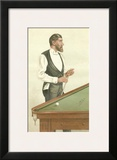 Vanity Fair Billiards Art by  Spy (Leslie M. Ward)