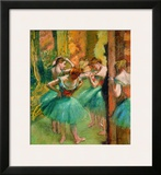 Dancers in Pink and Green Framed Giclee Print by Edgar Degas