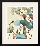 Blue Pavots Ondule I Prints by Shirley Novak