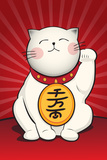 Maneki Neko (Lucky Cat) Plastic Sign Plastic Sign