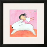 Fairy on Hare Prints by Carla Sonheim