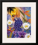 The Blossoms are Opening, Hawaiian Hula Dancers Framed Giclee Print by Warren Rapozo