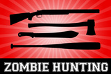 Zombie Hunting Red Sports Plastic Sign Plastic Sign