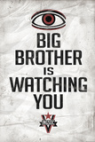 Big Brother is Watching You 1984 INGSOC Political Plastic Sign Plastic Sign