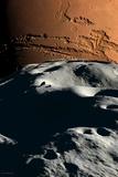Mars As Seen From Phobos, Artwork Photographic Print by Detlev Van Ravenswaay