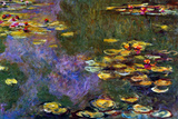 Claude Monet Water Lily Pond Giverny Plastic Sign Plastic Sign by Claude Monet
